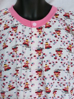 Photo2: Adult Baby  Onesie  Strawberry Fairy Pattern Short Sleeve Front Open Type
