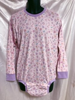 Photo1: Adult Baby  Onesie  lovely bear pattern long sleeve