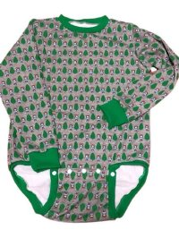 Adult Baby Onesie bear pattern long sleeve